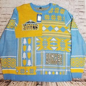 NBA Denver Nuggets Christmas Sweater Mens size XXL